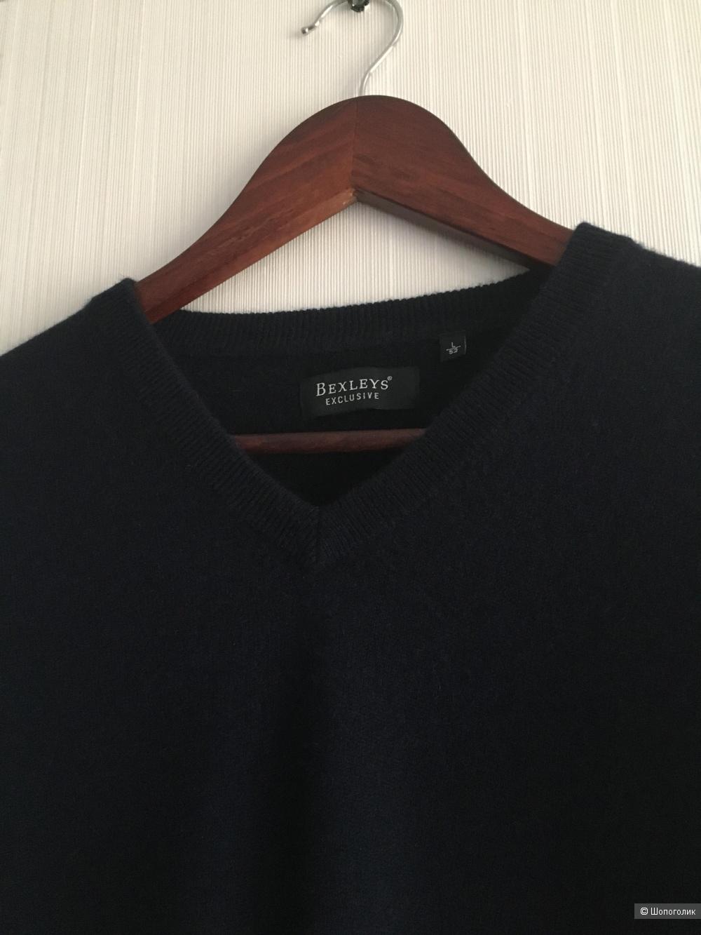 Пуловер бренда Bexleys, шерсть мериноса - кашемир, размер L