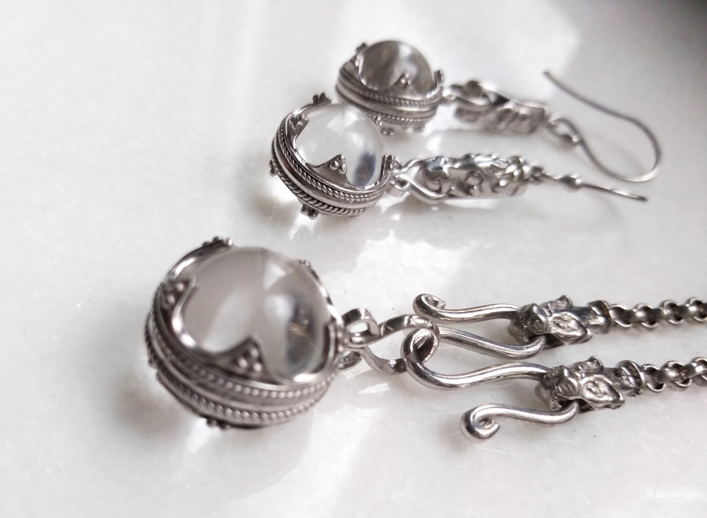 Серебряная подвеска с цепочкой