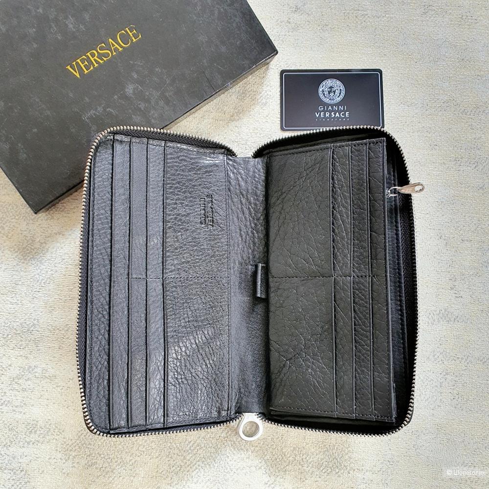 Кошелек Versace мужской кожаный