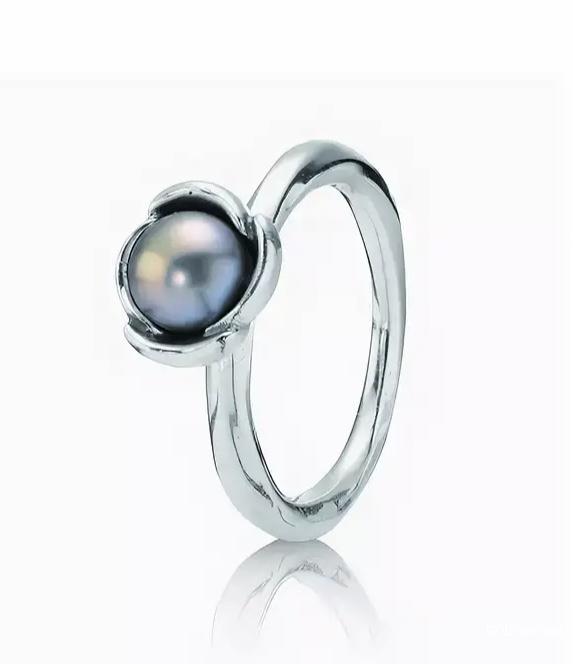 Кольцо с жемчугом Pandora 17 размер
