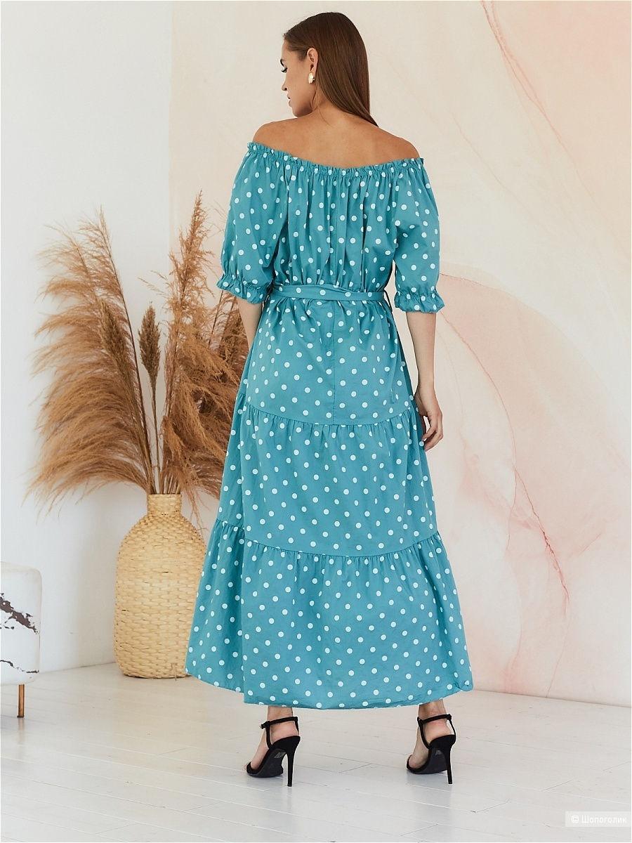 Платье в горох макси New Collection polka dot, 42-52