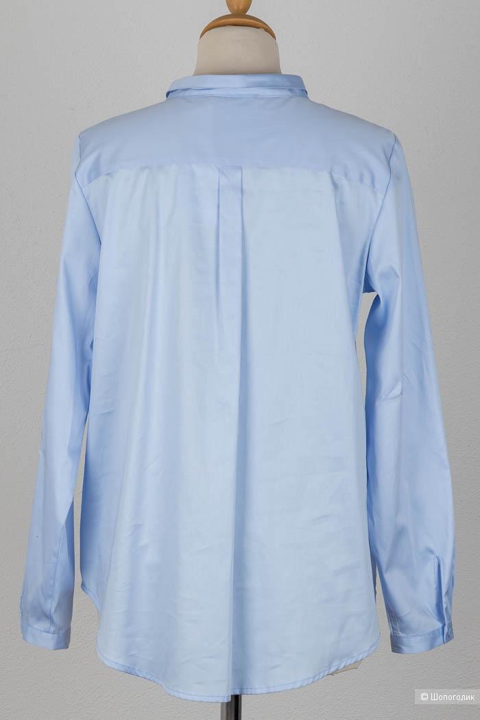 Шелковая блуза бренда Renette Kurras в цвете серебро, размер L