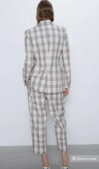 Пиджак Zara в клетку, размер M