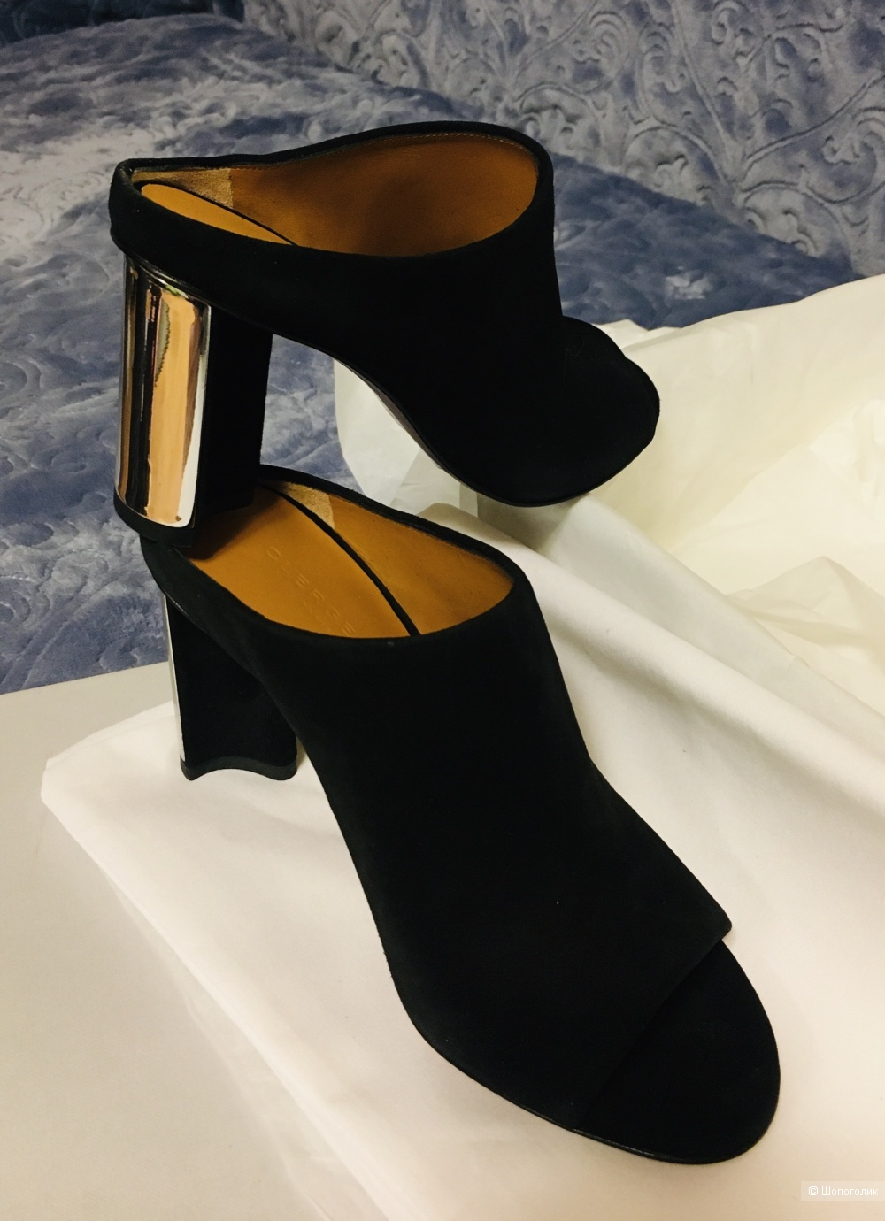 Мюли на каблуке Clergerie, размер 36-36,5