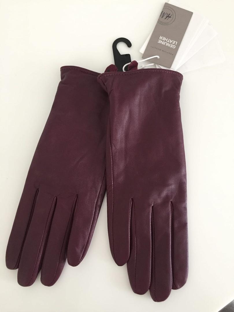 Кожаные перчатки Н&M в размере  М