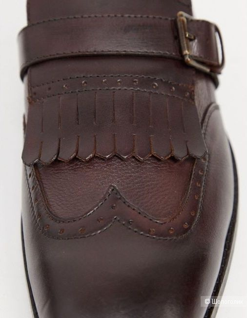 Кожаные броги с декоративным ремешком Bolongaro Trevor, UK 8