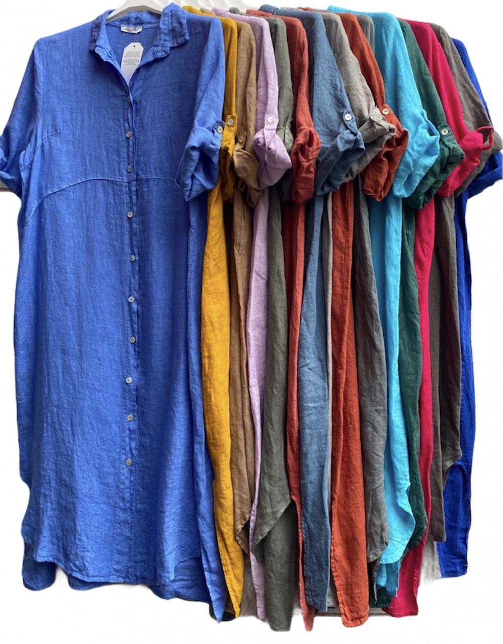 Платье рубашка New SEA LIFE LINO, 42-50