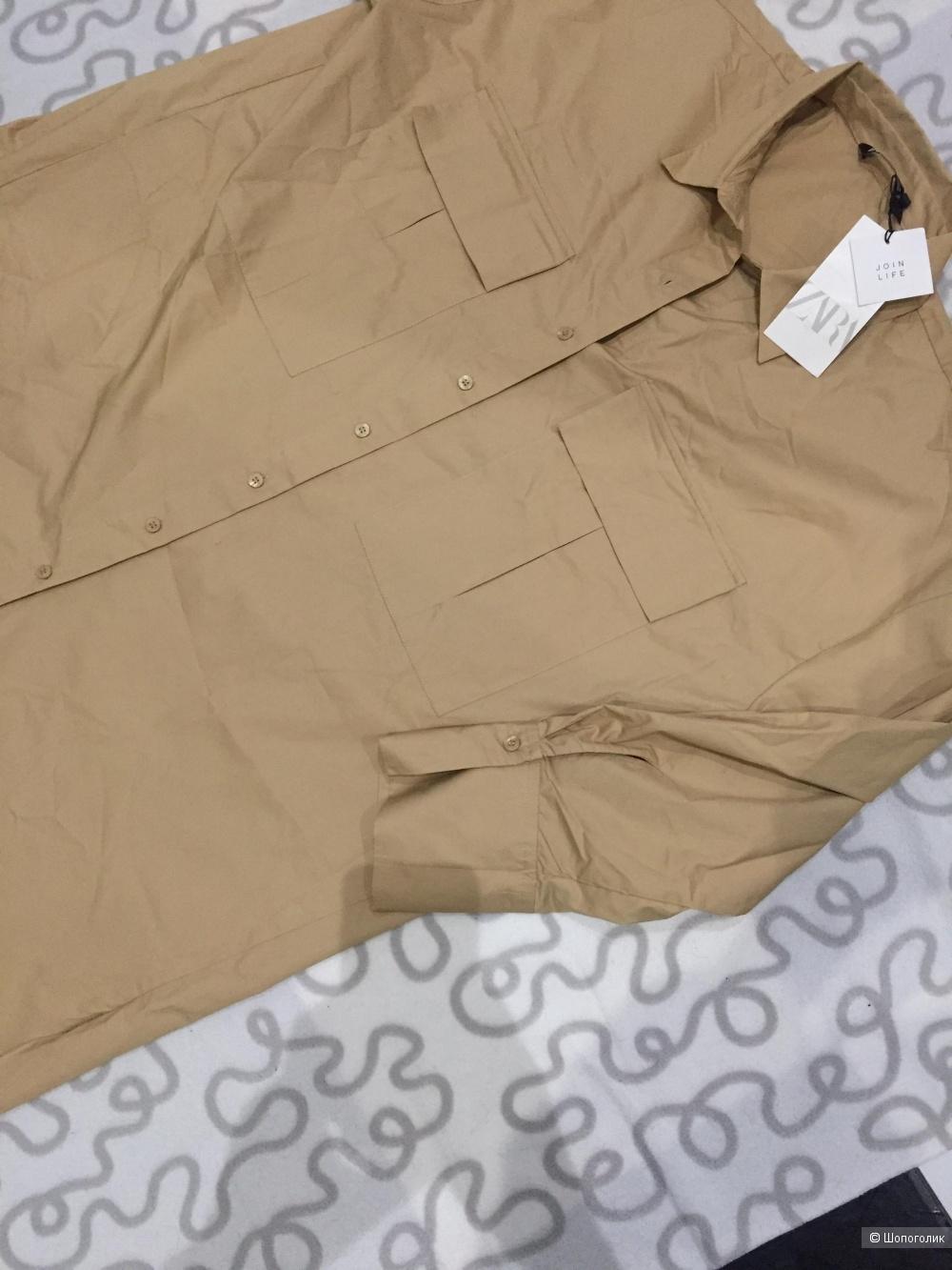 Платье-Рубашка ZARA L oversize