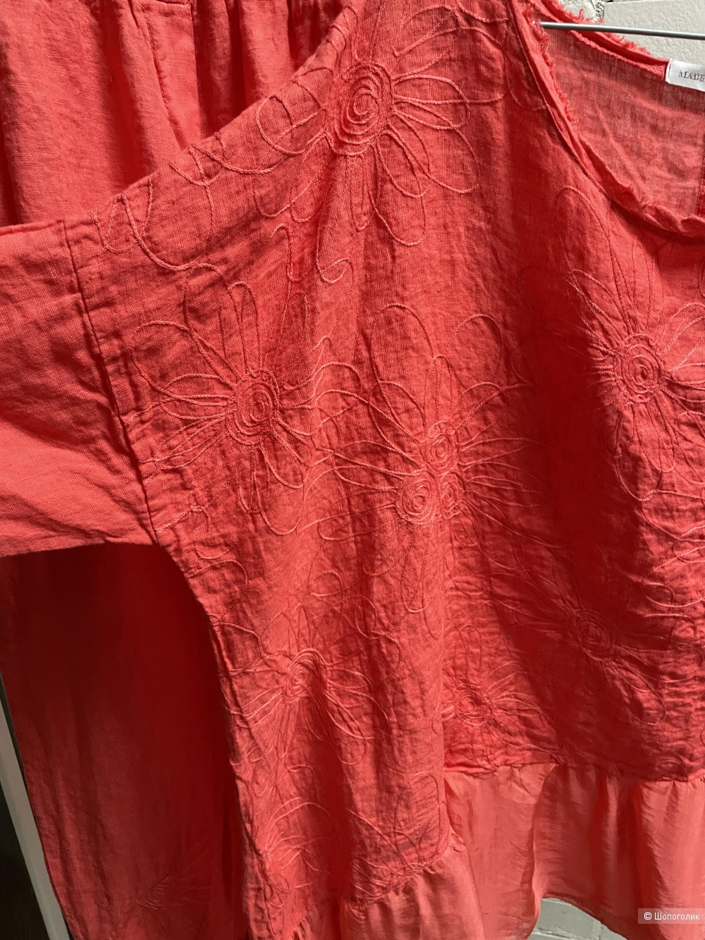 Костюм брючный лен шелк вышивка MISS COCCO,50-56