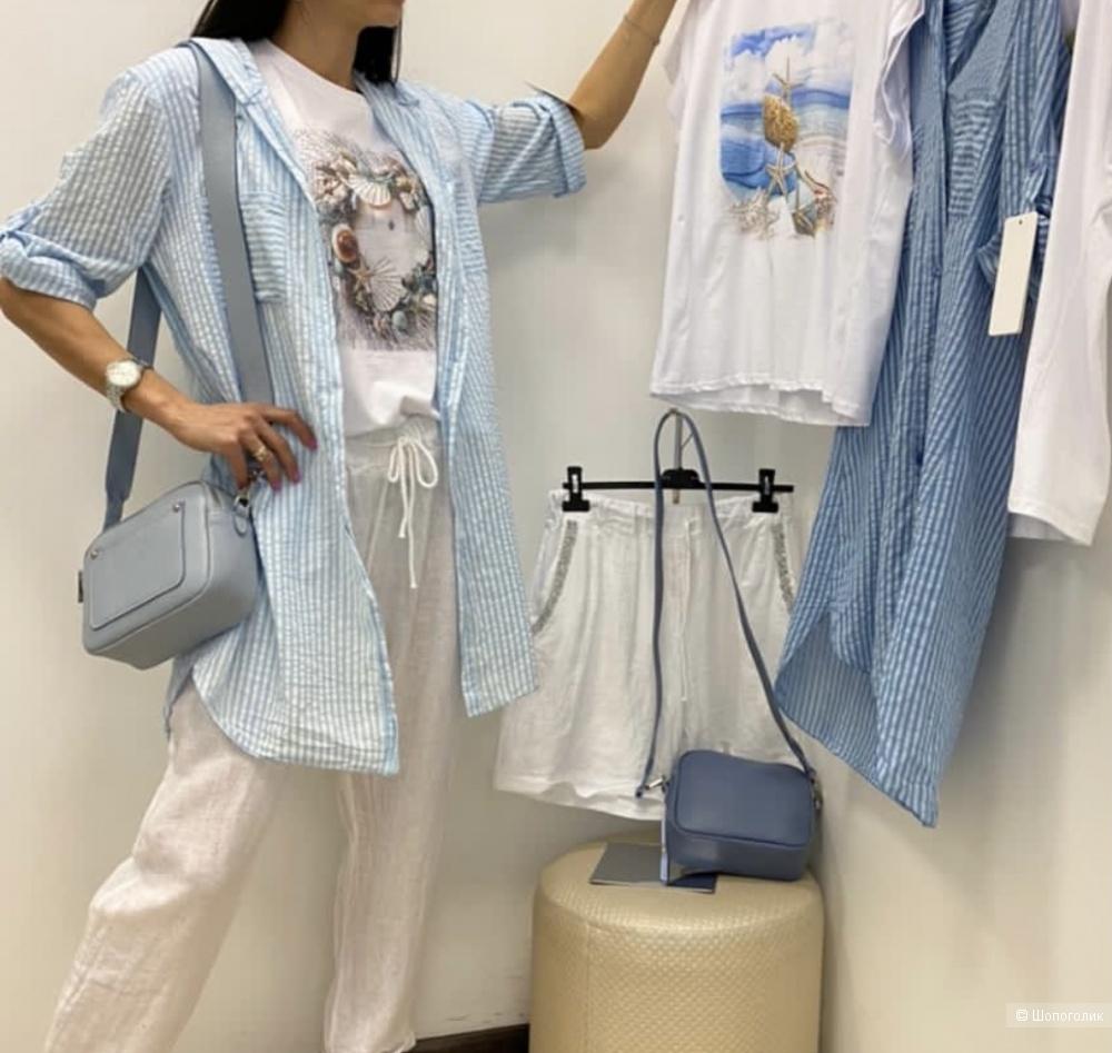 Рубашка туника в полоску New collection, oversize