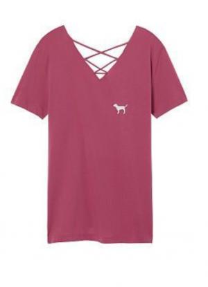 Топ - футболка Victoria's Secret Pink, размер 48-50