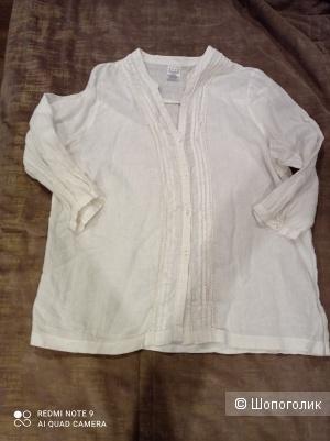 Льняная рубашка размер XL