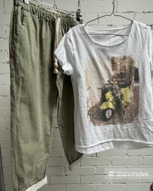 Комплект брюки шитье и футболка Miss ITaly, 42-48