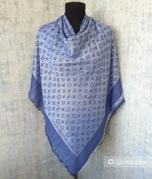 Шаль Louis Vuitton (платок\палантин) джинсовый
