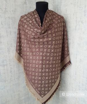 Шаль Louis Vuitton (платок\палантин) коричневый