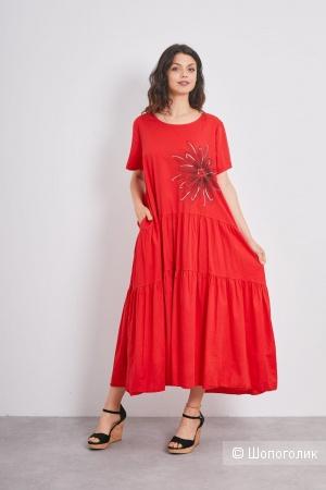 Платье ярусы цветок NEW COLLECTION ITALY,46-54