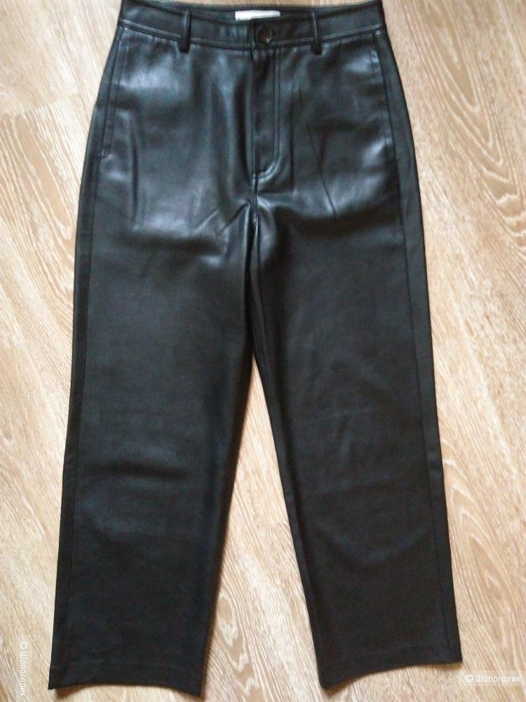 Кожаные брюки Mango 38 размера