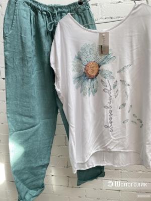 Летний сет брюки Puro lino и блуза Camomille, 44-52