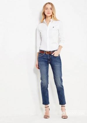 Белая рубашка  Polo by Ralph Lauren размер М на S