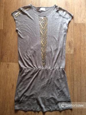 Платье льняное, SOFTGREY, р-р М (44-46)