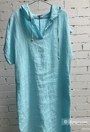Платье макси бохо 100% lino ,42-50
