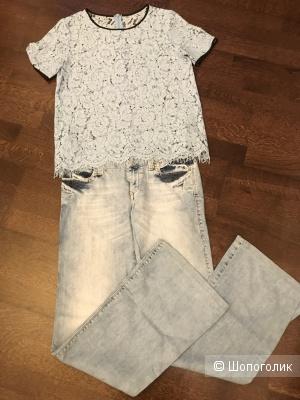 Комплект (джинсы AMN, блуза No name), р 44