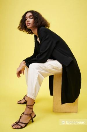 Тренч из струящейся ткани Zara. Размер: S