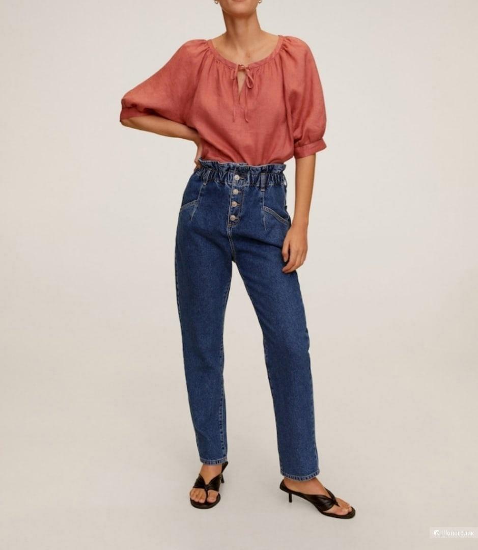 Льняная блуза Мango размер L-XL-XXL