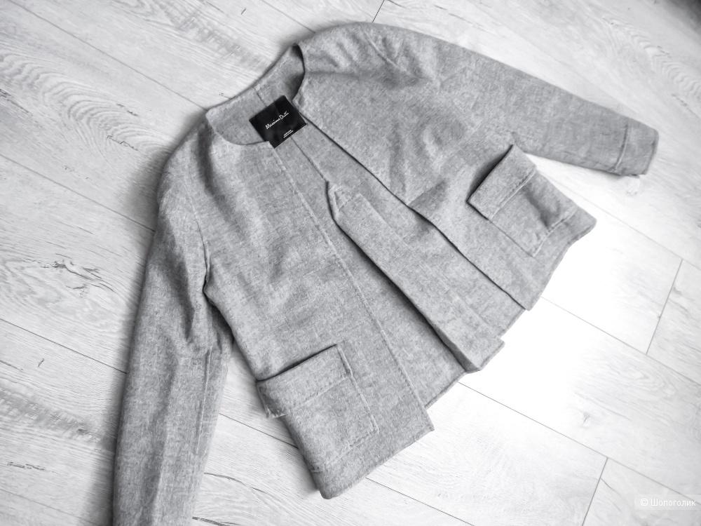 Жакет  пиджак серый  MASSIMO DUTTI XS S