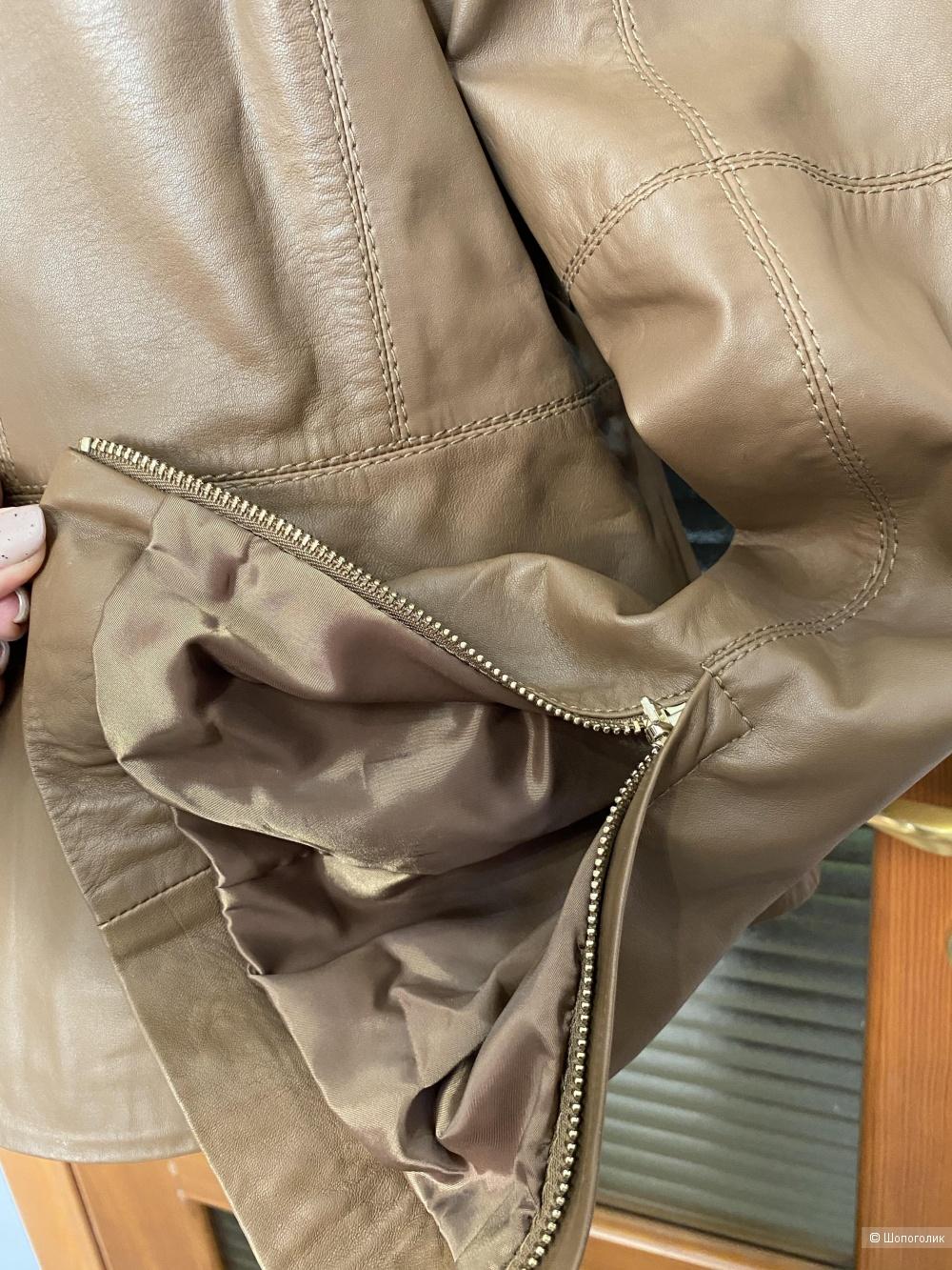 Кожаная куртка Stefanel, размер 46IT/48RUS