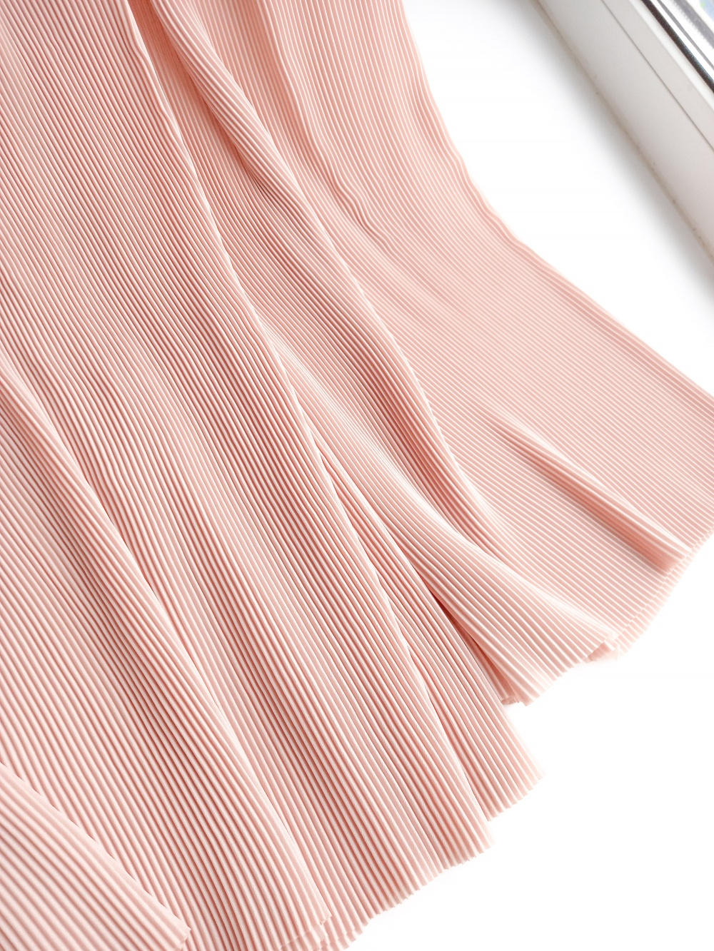 Юбка брюки плиссированные  розовые ZARA BASIC XS S M