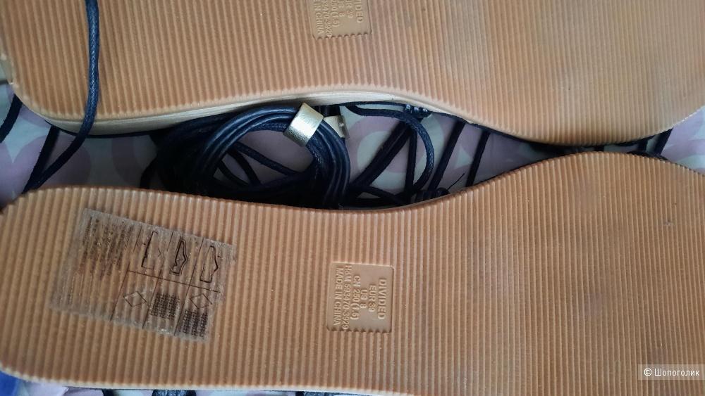 Сандалии, H & M, 39 размер