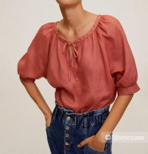 Льняная блуза Mango размер L-XL-XXL