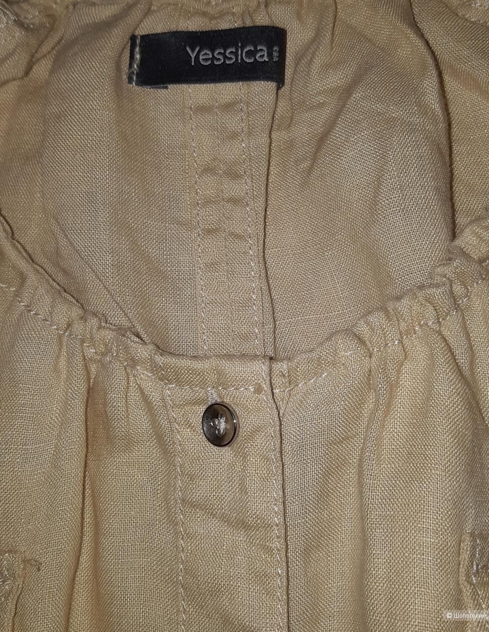Льняное платье jessica, размер l/xl