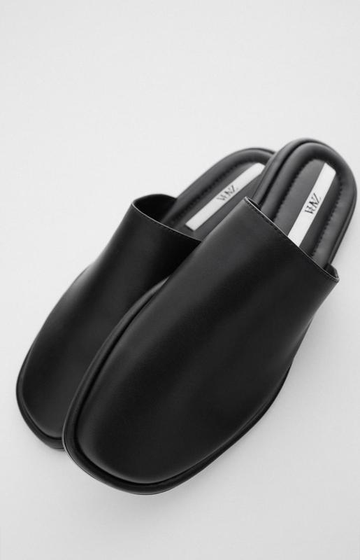 Кожаные мюли Zara 39