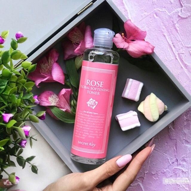 Увлажняющий тонер с экстрактом розы SECRET KEY ROSE FLORAL SOFTENING TONER