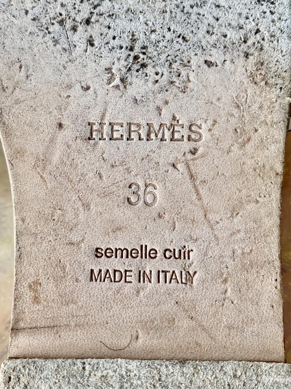 Шлепки Hermes, размер 36.