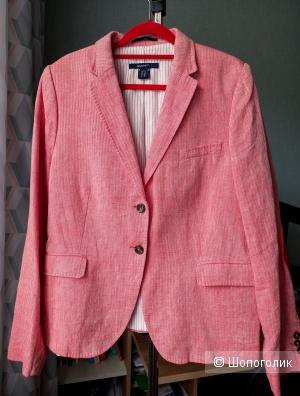 Пиджак жакет розовый лён GANT L-XL