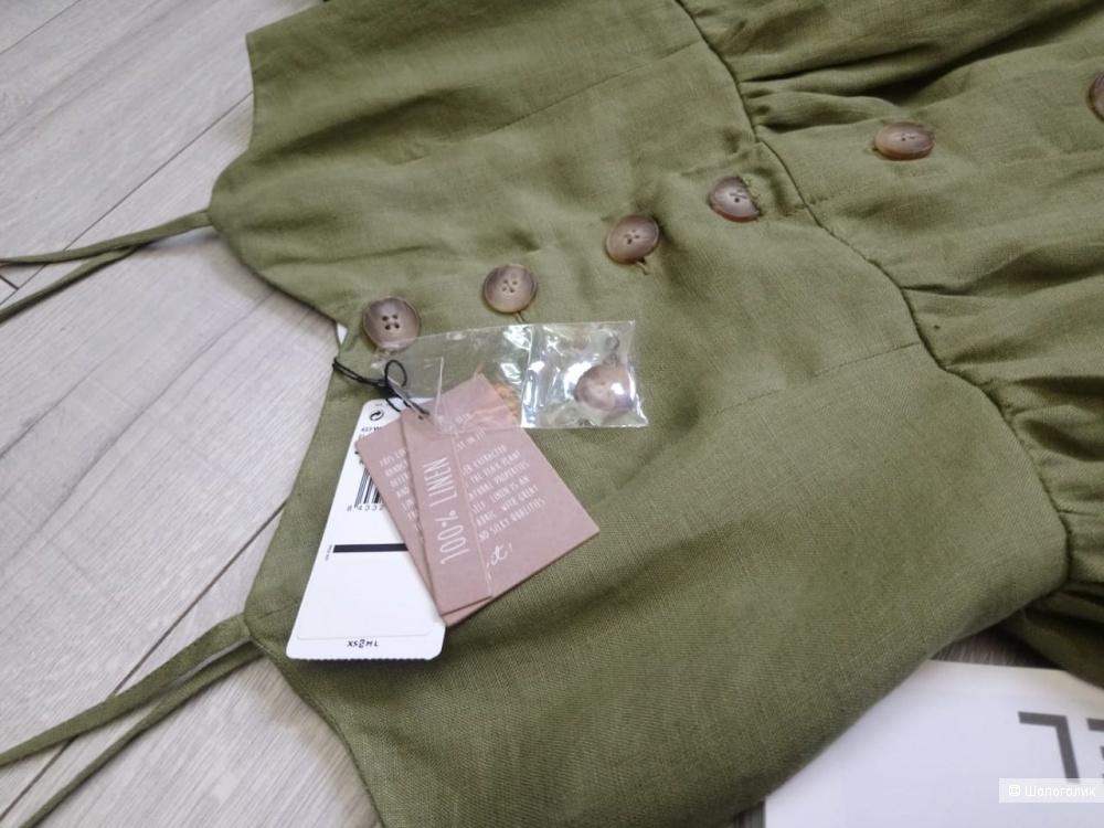 100% ЛЁН, платье mango, размер L (m/l)
