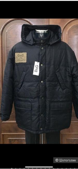 Мужская куртка пуховик Dolce&Gabanna 54размер