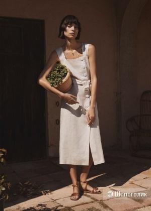 Платье mango 100% лен, размер S/M