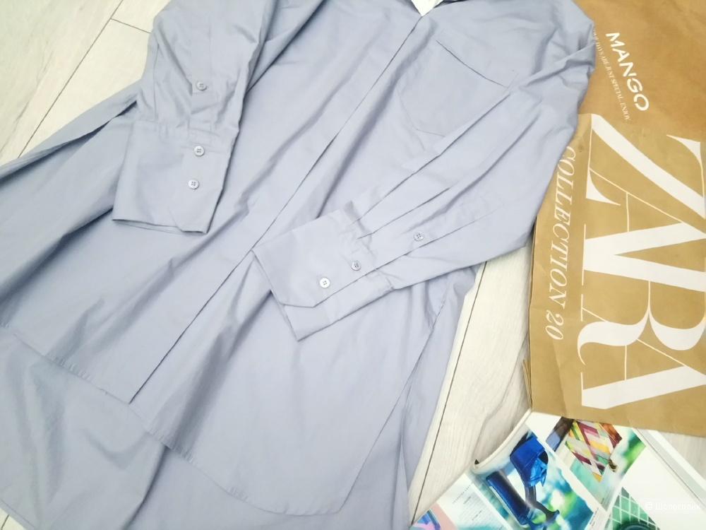 Рубашка Zara, оверсайз, 100% хлопок