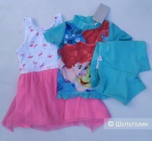 Платье и купальник Disney 74cm