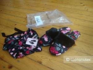 Victoria secret тапочки в подарочном мешочке М
