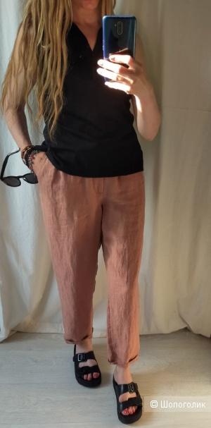 Льняные брюки Мango размер L