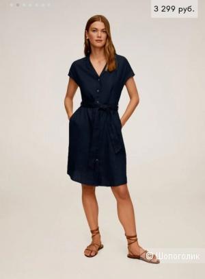 Льняное платье Мango размер М