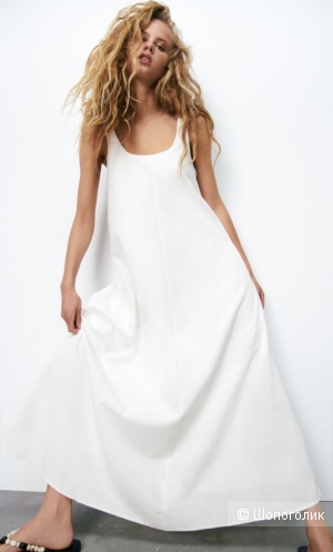 Платье смесовый лён ZARA xs/s/m