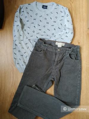 Сет свитер lc waikiki и брюки hm размер 134