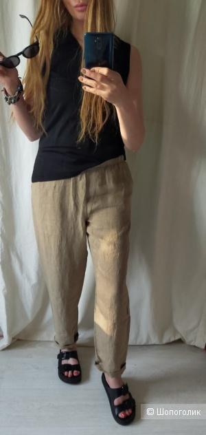 Льняные брюки Мango размер XL
