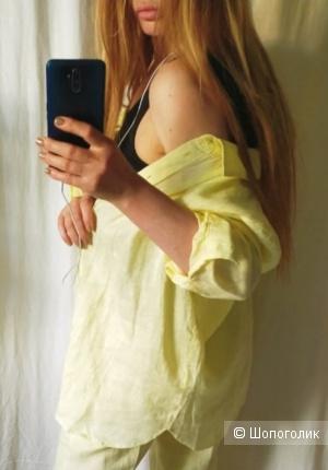 Льняная рубашка Mango размер M